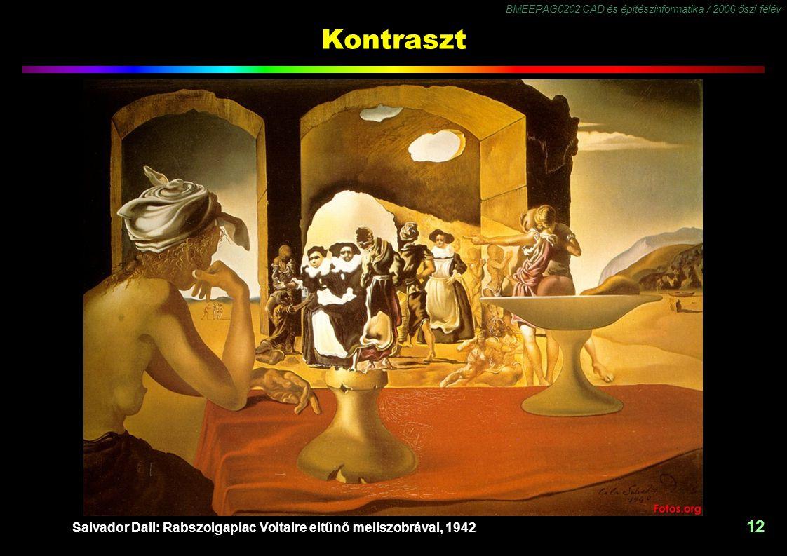 Salvador Dali: Rabszolgapiac Voltaire eltűnő mellszobrával, 1942