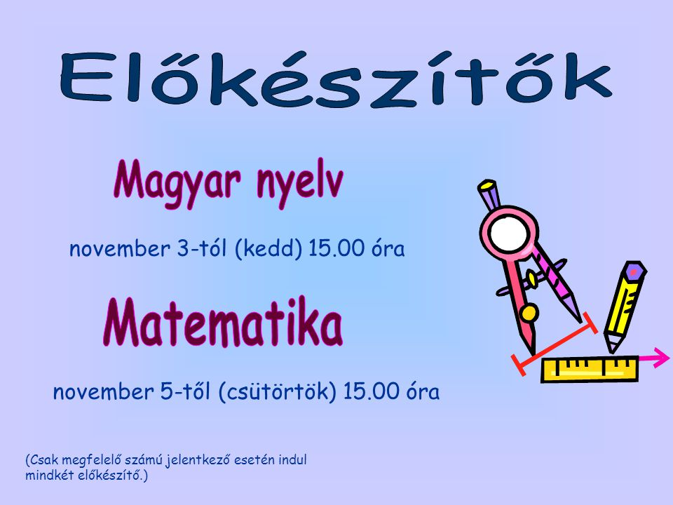 Magyar nyelv Matematika