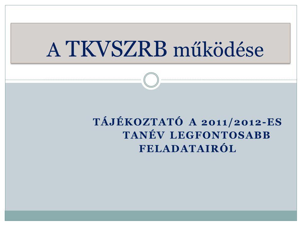 Tájékoztató a 2011/2012-es tanév legfontosabb feladatairól