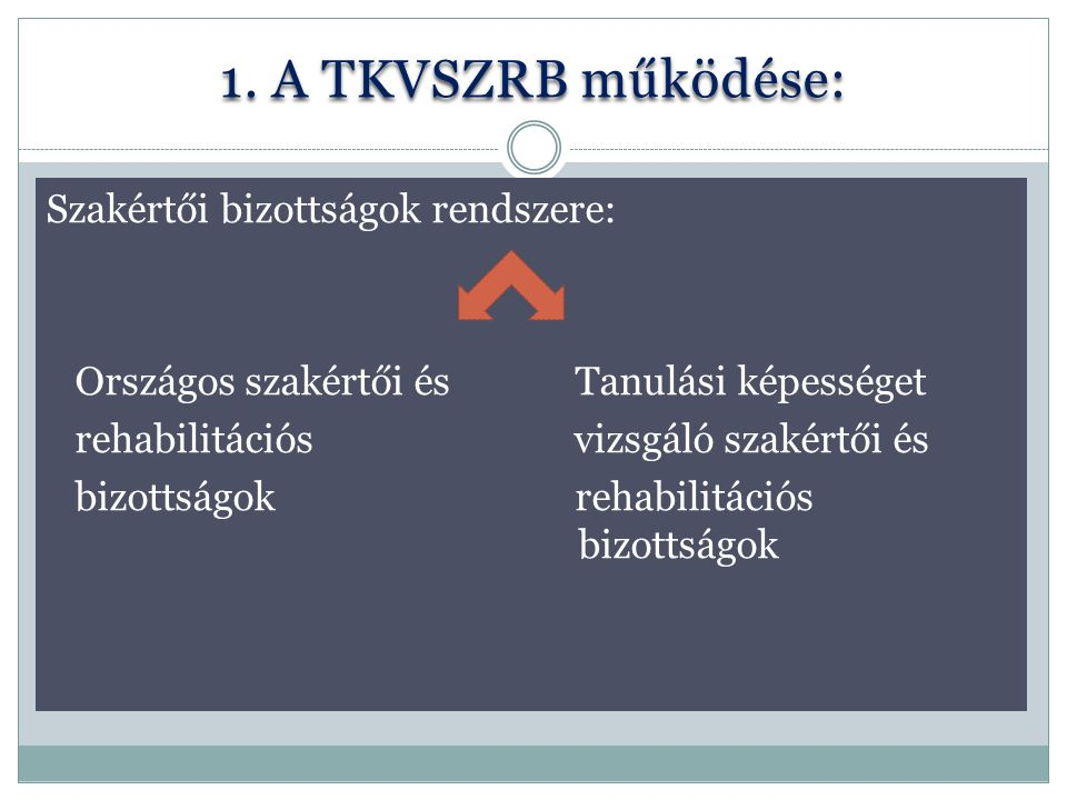 1. A TKVSZRB működése: