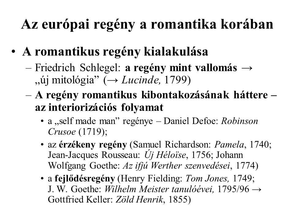Az európai regény a romantika korában