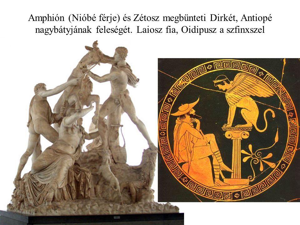 Amphión (Nióbé férje) és Zétosz megbünteti Dirkét, Antiopé nagybátyjának feleségét.