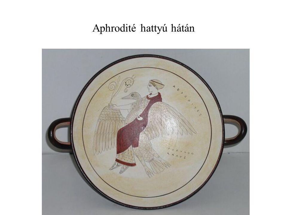 Aphrodité hattyú hátán
