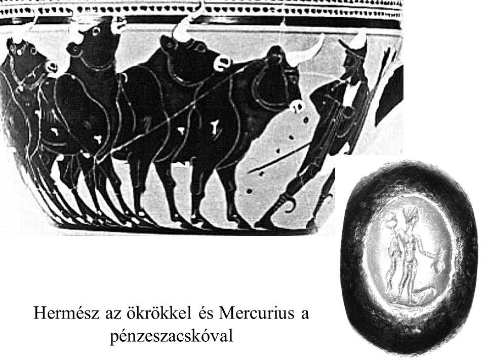 Hermész az ökrökkel és Mercurius a pénzeszacskóval