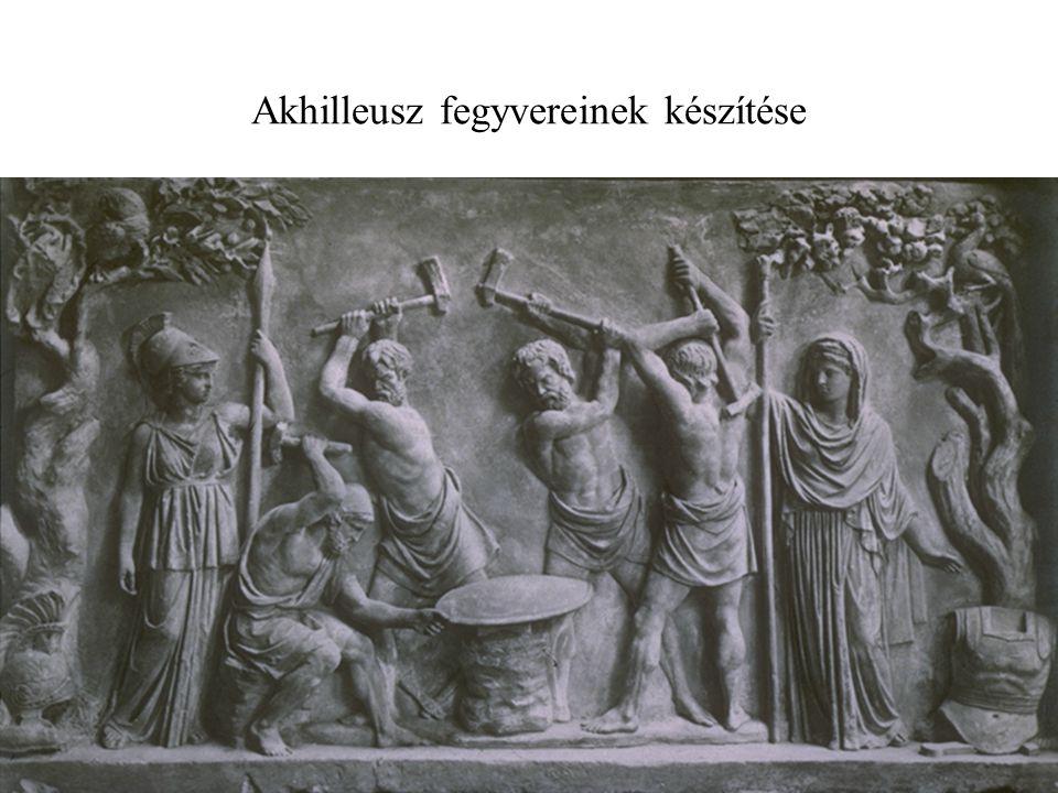 Akhilleusz fegyvereinek készítése