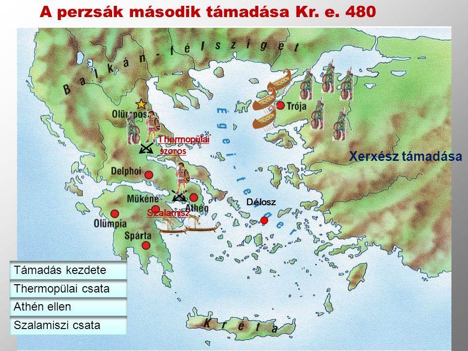 A perzsák második támadása Kr. e. 480