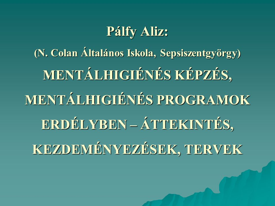 Pálfy Aliz: (N.