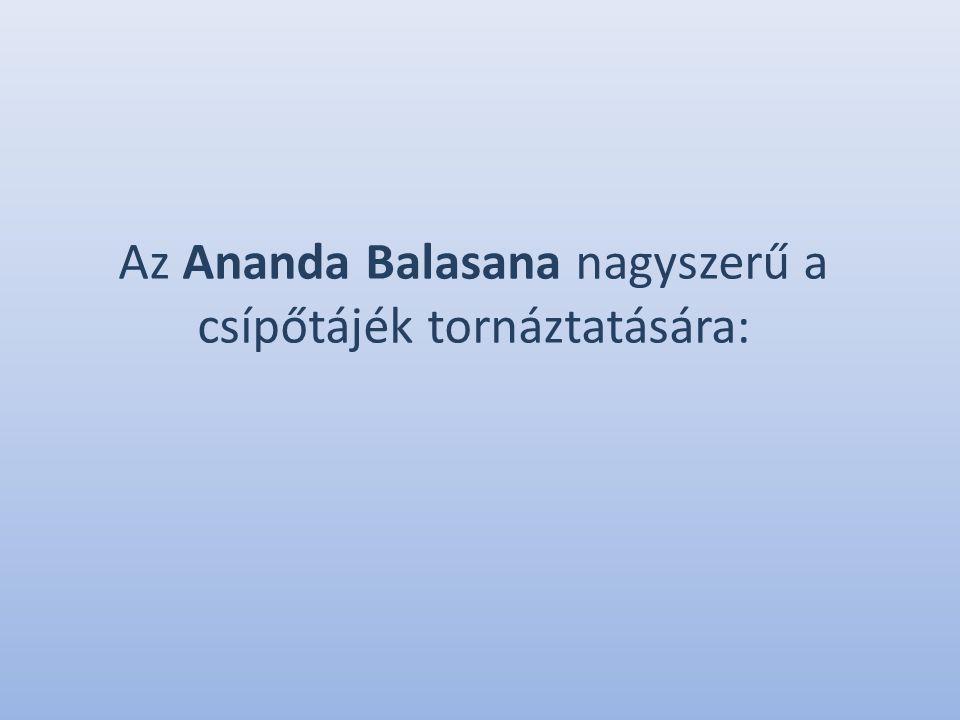 Az Ananda Balasana nagyszerű a csípőtájék tornáztatására:
