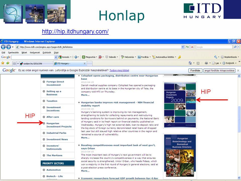 Honlap http://hip.itdhungary.com/ HIP HIP