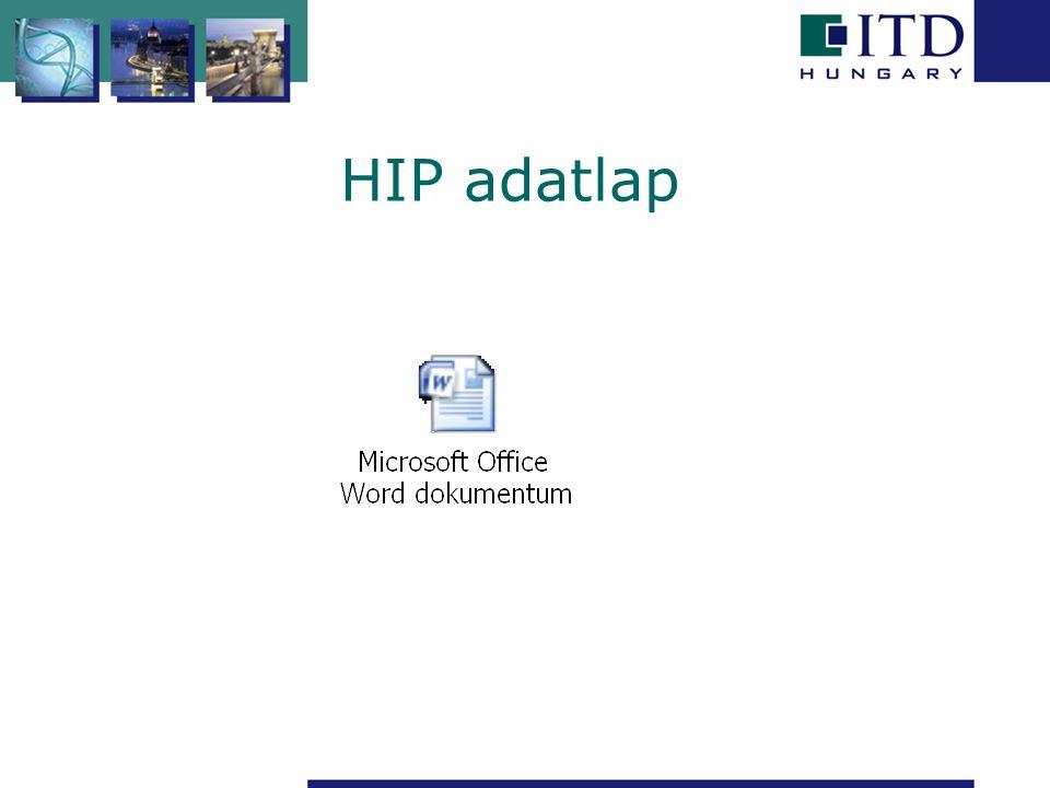 HIP adatlap
