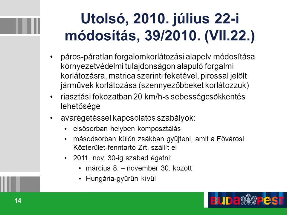 Utolsó, 2010. július 22-i módosítás, 39/2010. (VII.22.)