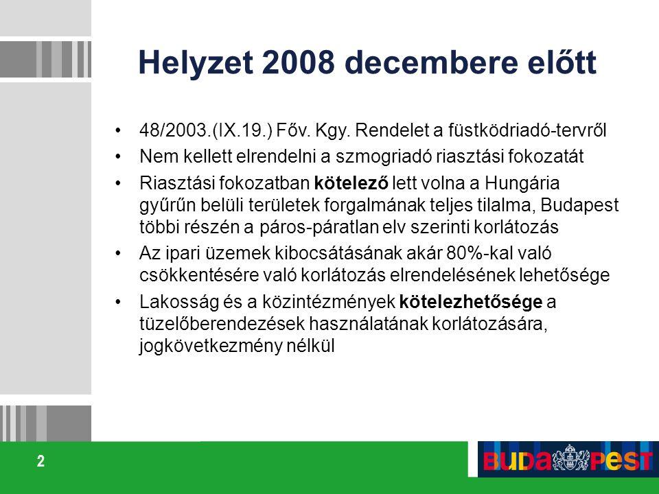 Helyzet 2008 decembere előtt