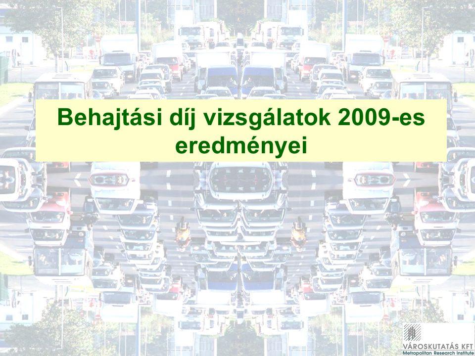 Behajtási díj vizsgálatok 2009-es eredményei