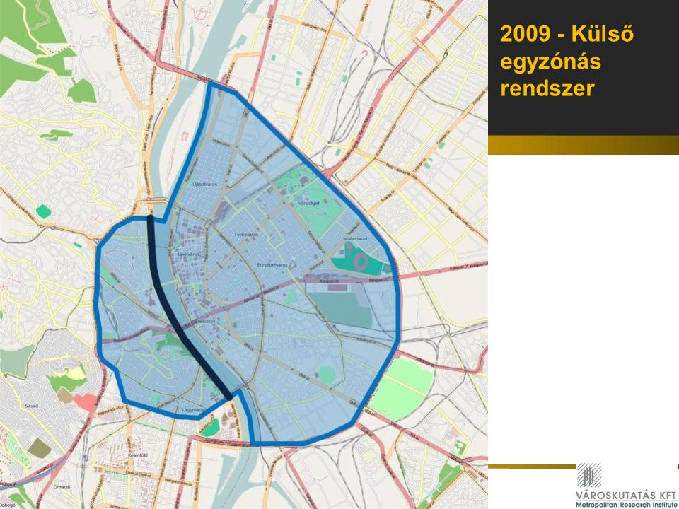 2009 - Külső egyzónás rendszer