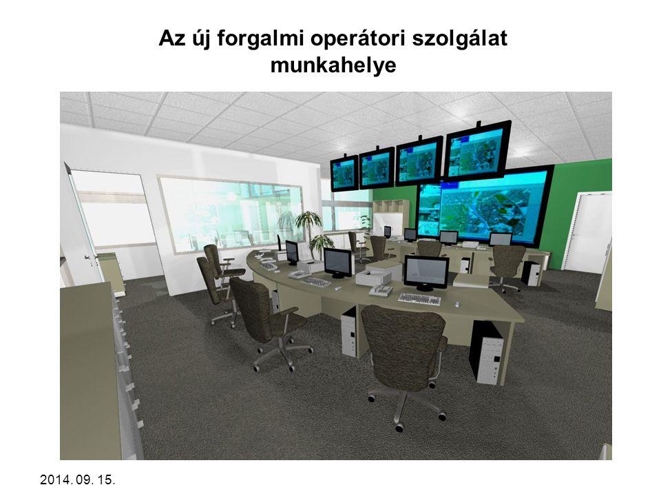 Az új forgalmi operátori szolgálat munkahelye