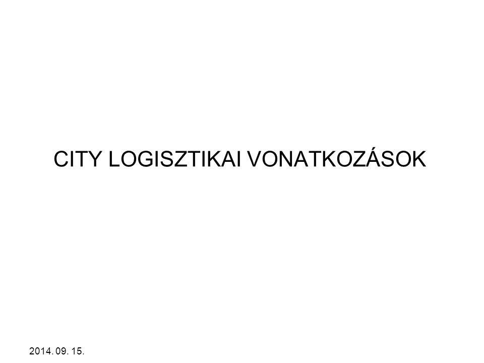 CITY LOGISZTIKAI VONATKOZÁSOK