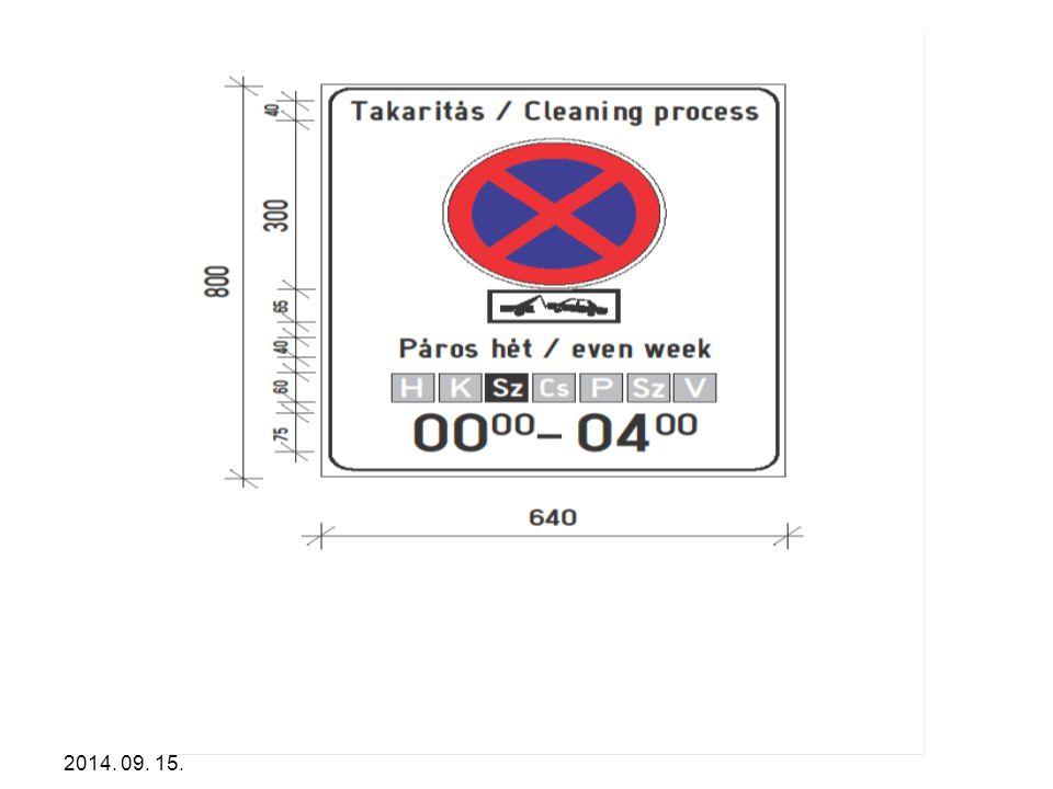 Konkrét példaként mutatom be a szállítás egy speciális formáját a a rendszeresen szükségessé váló gépi úttisztítás egy elterjedt jelzésrendszerét.