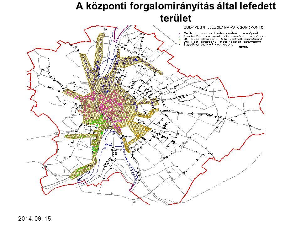 A központi forgalomirányítás által lefedett terület