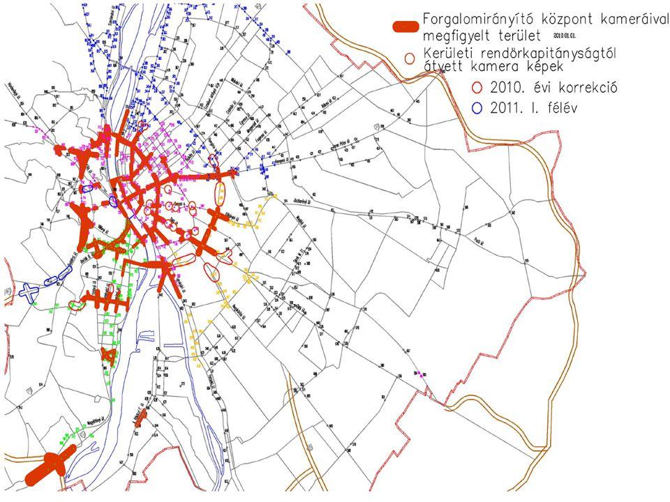 Forgalomfigyelő rendszer által lefedett terület