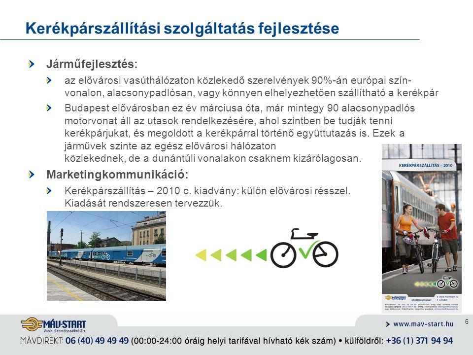 Kerékpárszállítási szolgáltatás fejlesztése