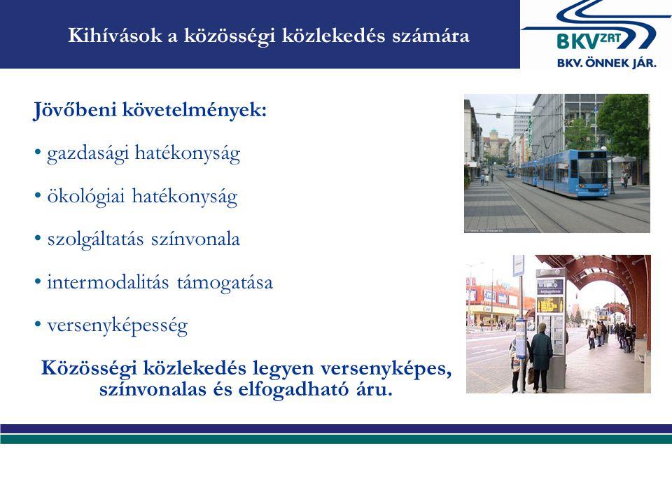 Kihívások a közösségi közlekedés számára