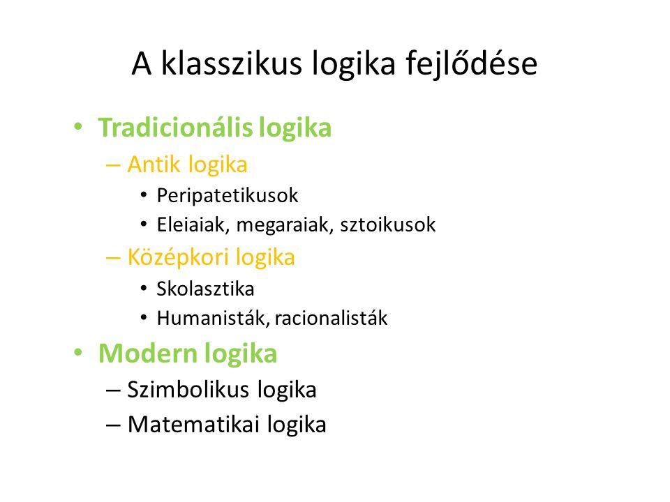 A klasszikus logika fejlődése