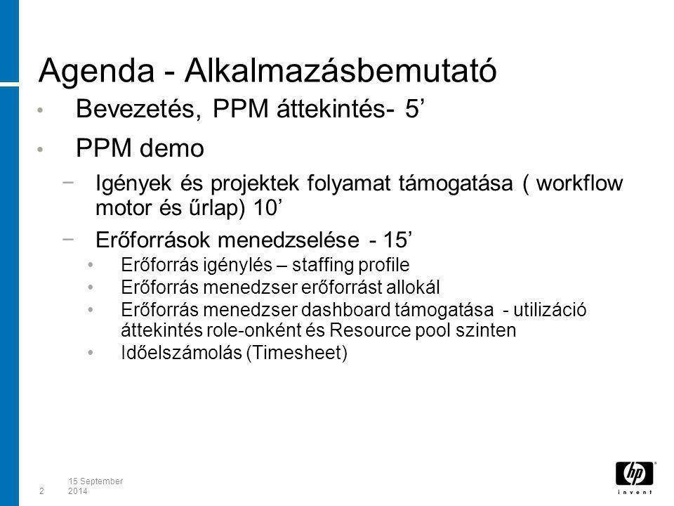 Agenda - Alkalmazásbemutató