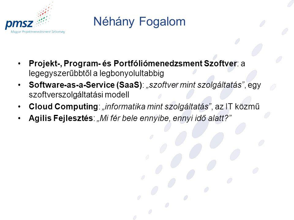 Néhány Fogalom Projekt-, Program- és Portfóliómenedzsment Szoftver: a legegyszerűbbtől a legbonyolultabbig.