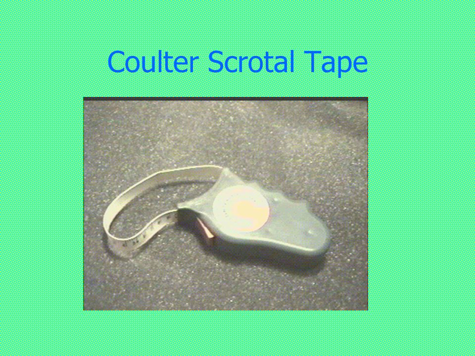 Coulter Scrotal Tape