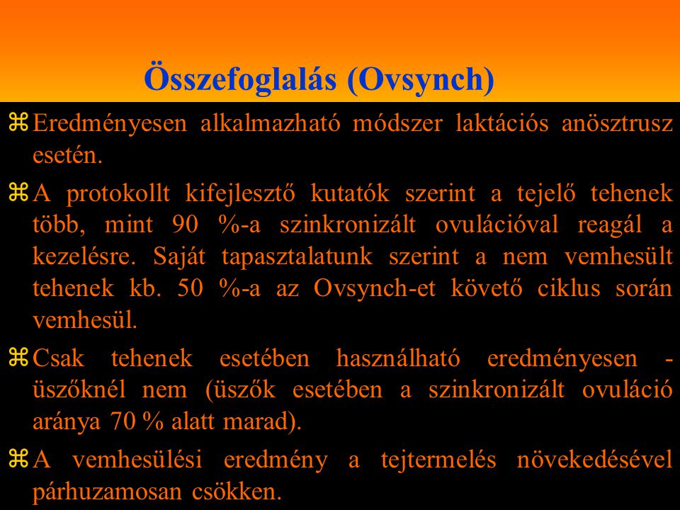 Összefoglalás (Ovsynch)
