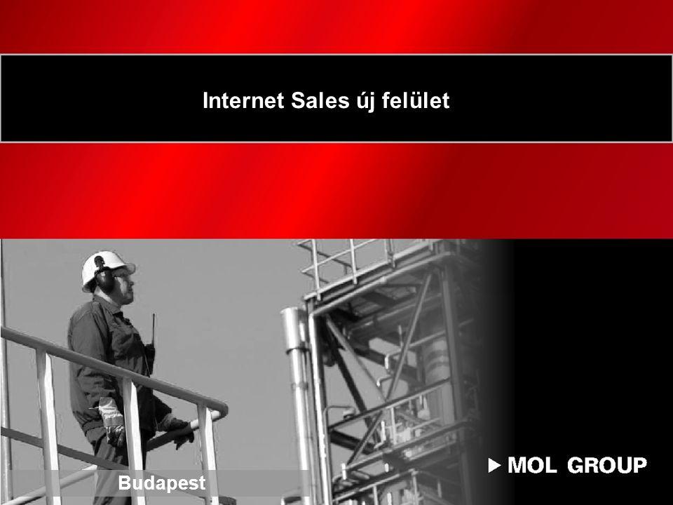Internet Sales új felület