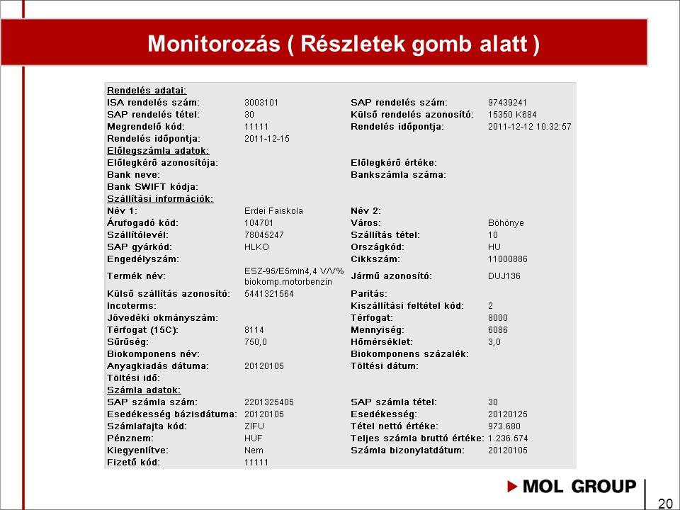 Monitorozás ( Részletek gomb alatt )