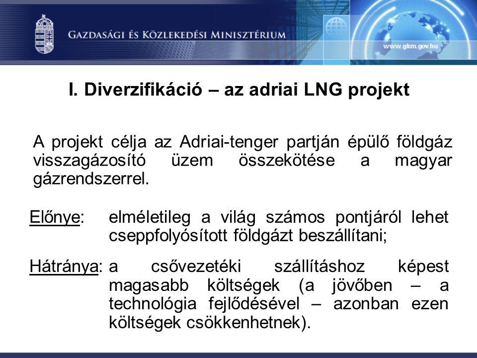 I. Diverzifikáció – az adriai LNG projekt