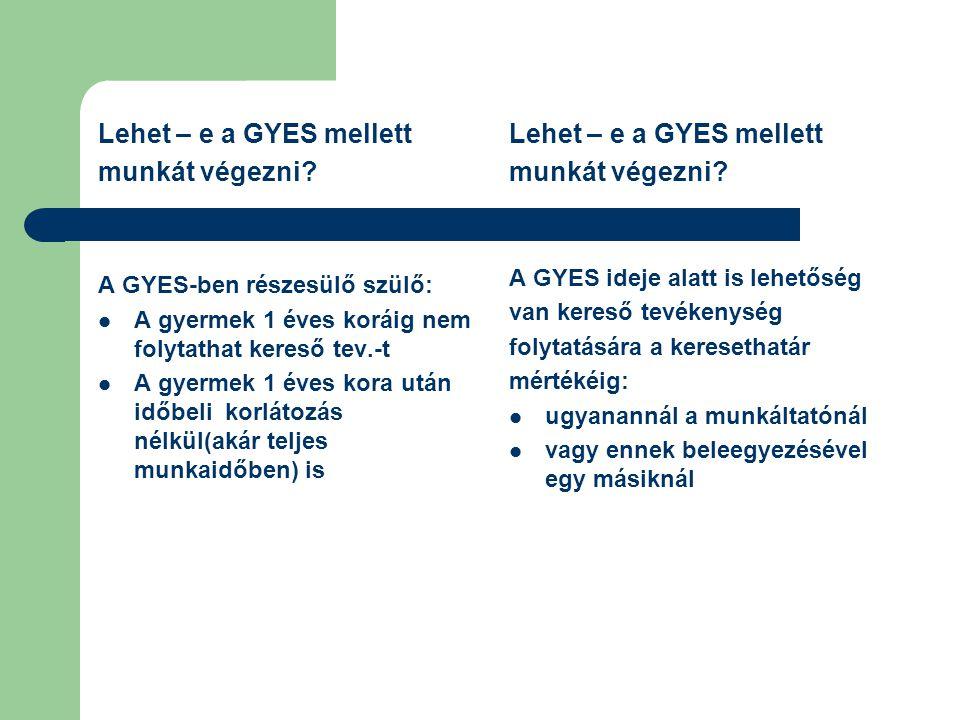 Lehet – e a GYES mellett munkát végezni Lehet – e a GYES mellett