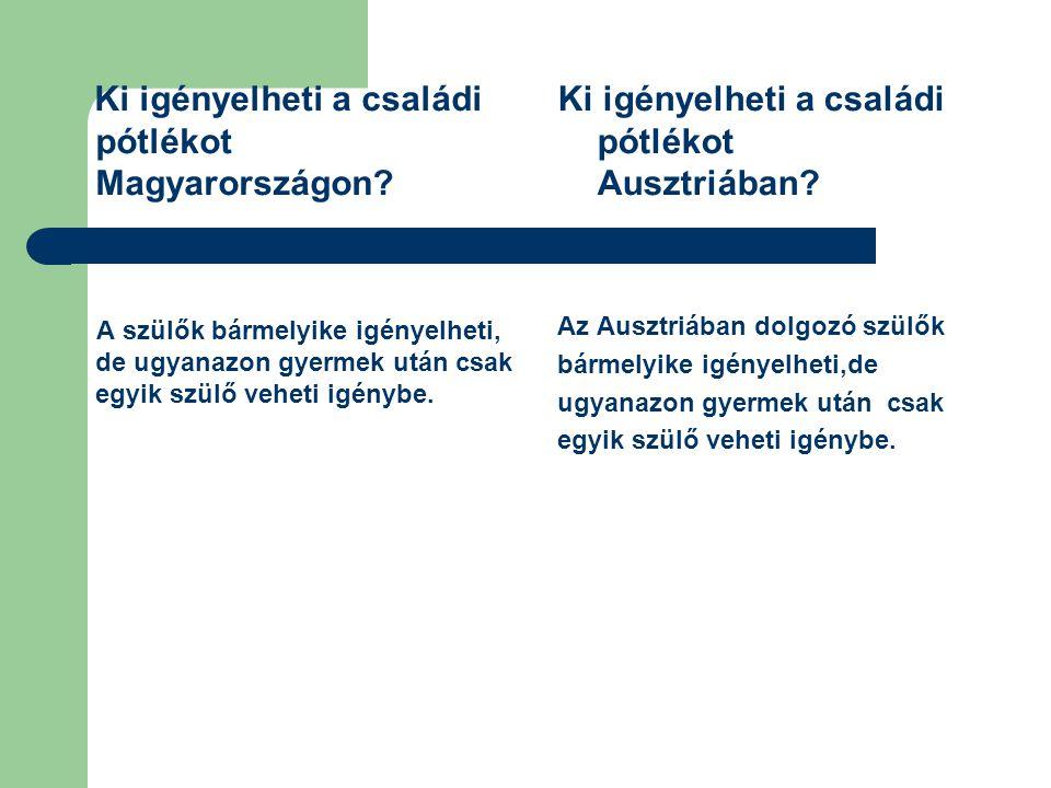 Ki igényelheti a családi pótlékot Magyarországon
