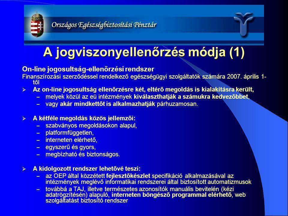 A jogviszonyellenőrzés módja (1)