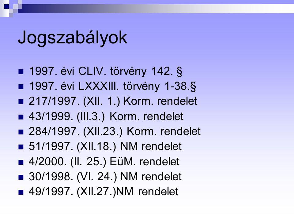 Jogszabályok 1997. évi CLIV. törvény 142. §