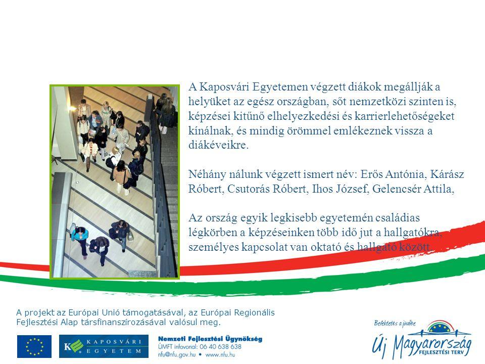 A Kaposvári Egyetemen végzett diákok megállják a helyüket az egész országban, sőt nemzetközi szinten is, képzései kitűnő elhelyezkedési és karrierlehetőségeket kínálnak, és mindig örömmel emlékeznek vissza a diákéveikre.