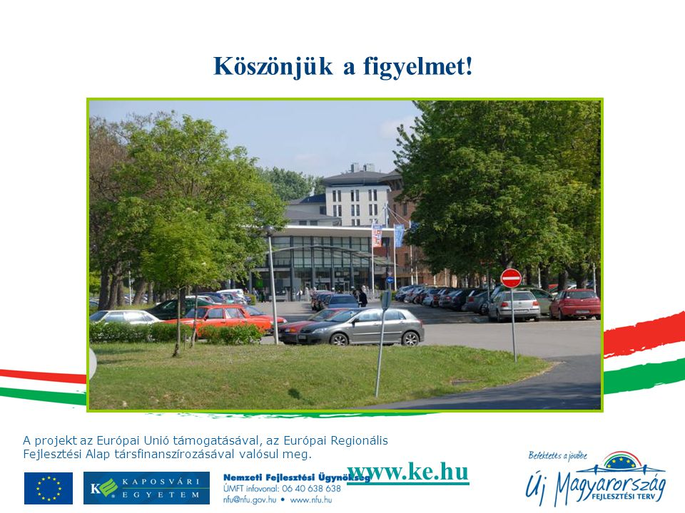 Köszönjük a figyelmet! www.ke.hu