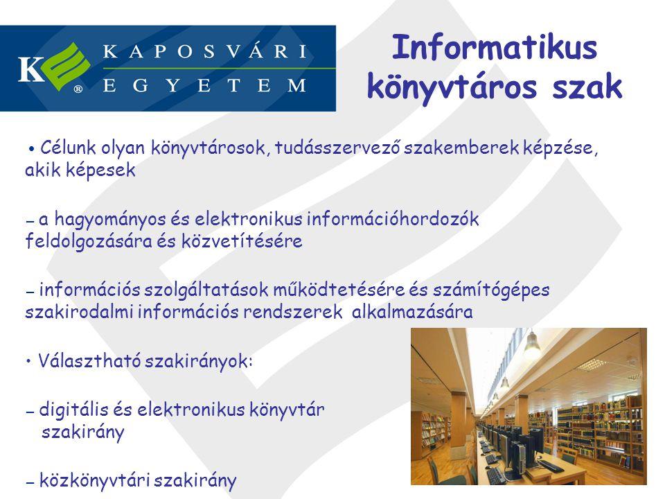 Informatikus könyvtáros szak
