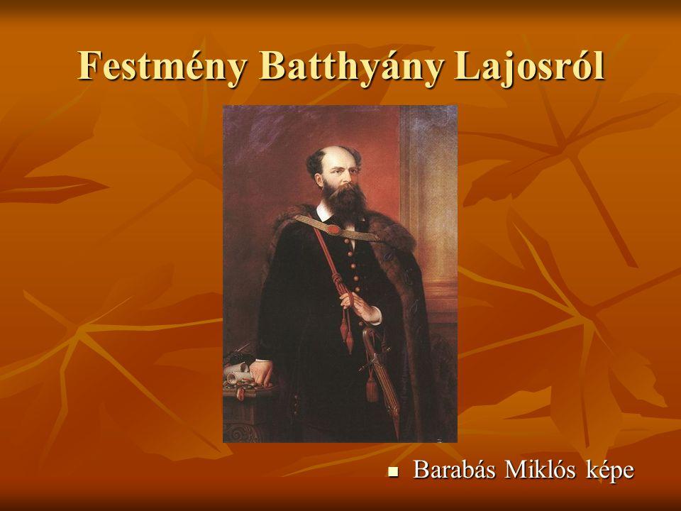 Festmény Batthyány Lajosról