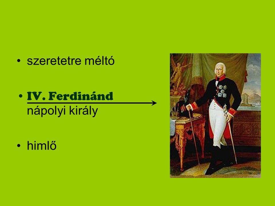 szeretetre méltó IV. Ferdinánd nápolyi király himlő