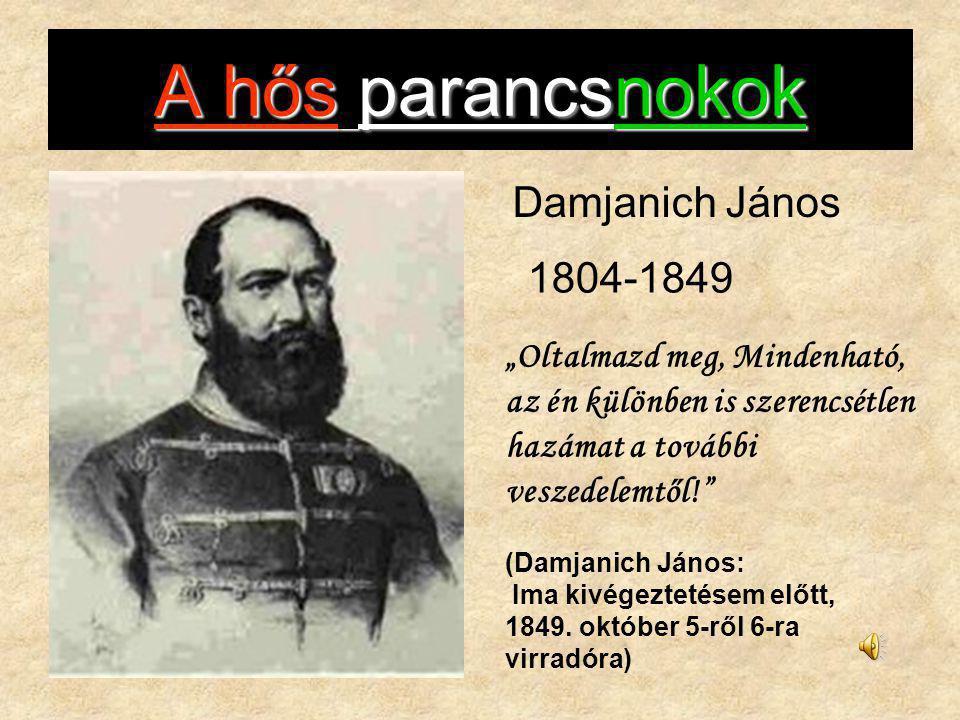 A hős parancsnokok Damjanich János 1804-1849