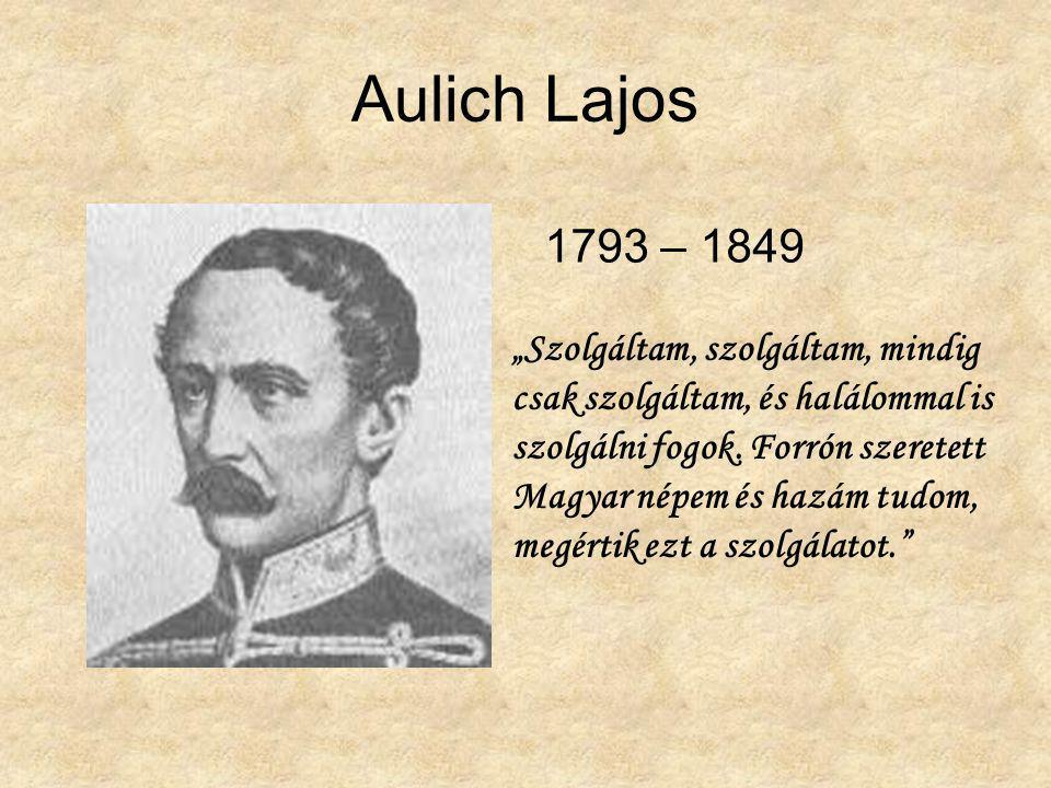 Aulich Lajos 1793 – 1849.