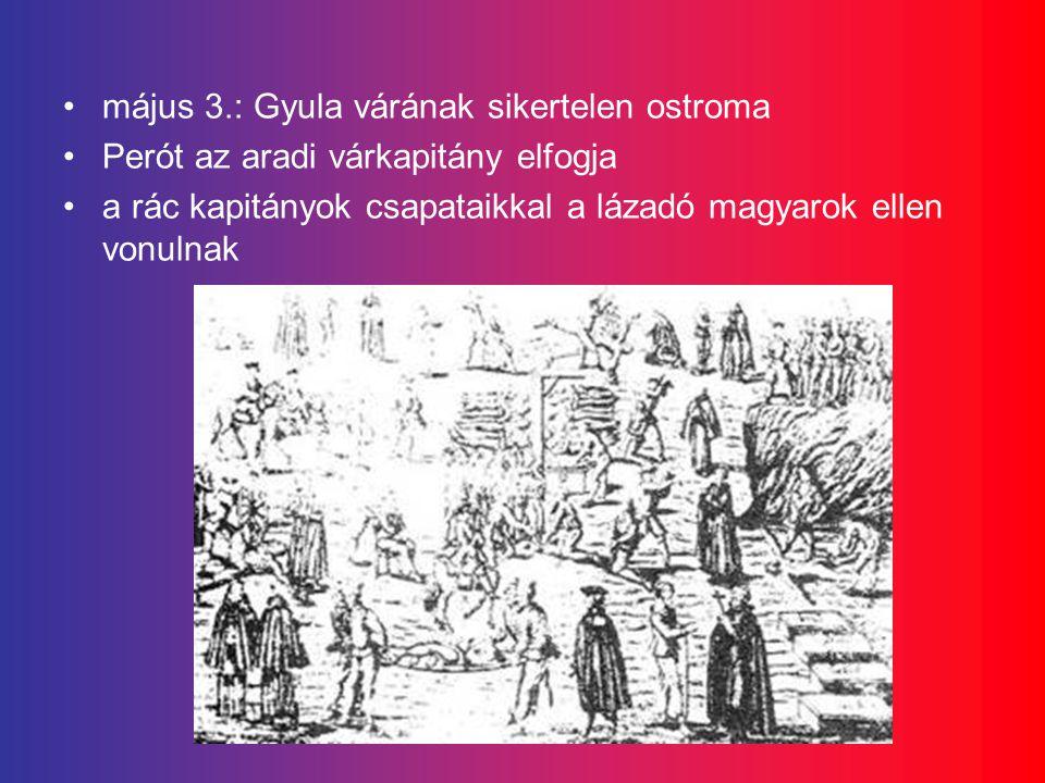 május 3.: Gyula várának sikertelen ostroma