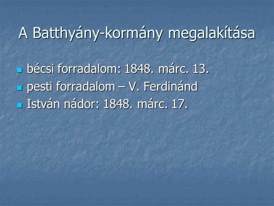 A Batthyány-kormány megalakítása