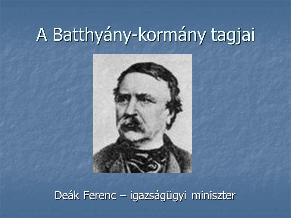 A Batthyány-kormány tagjai