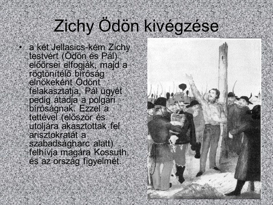 Zichy Ödön kivégzése