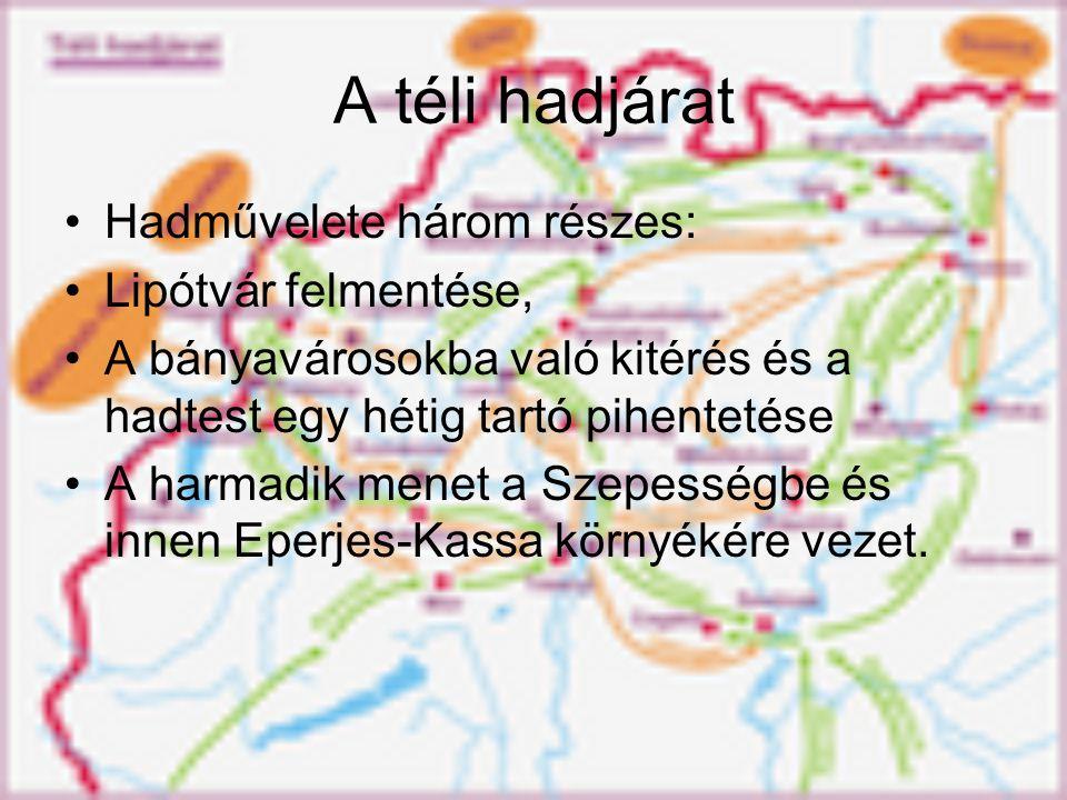 A téli hadjárat Hadművelete három részes: Lipótvár felmentése,