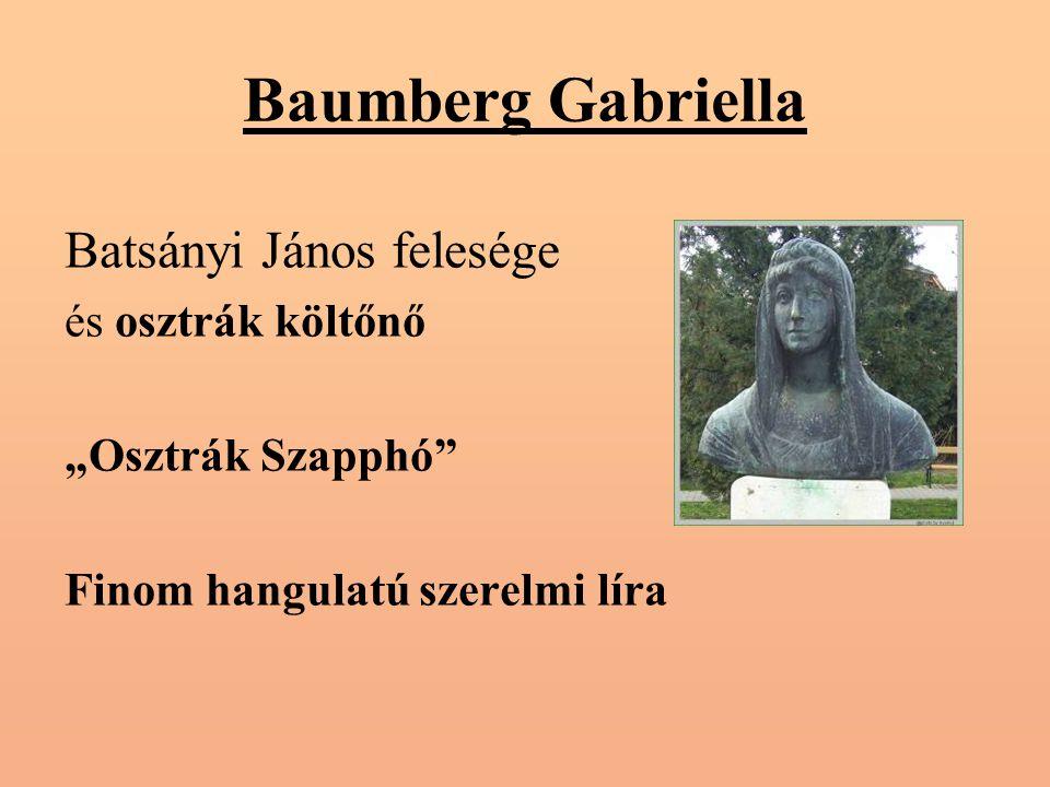Baumberg Gabriella Batsányi János felesége és osztrák költőnő